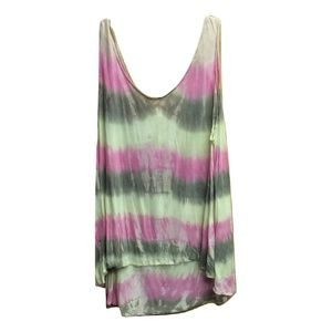 New Large Emma & Sam Tie Dye Scoop Neck Tank Top